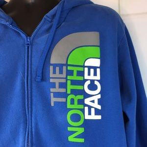 The North Face Shirts - The North Face Blue Zippered Hoodie